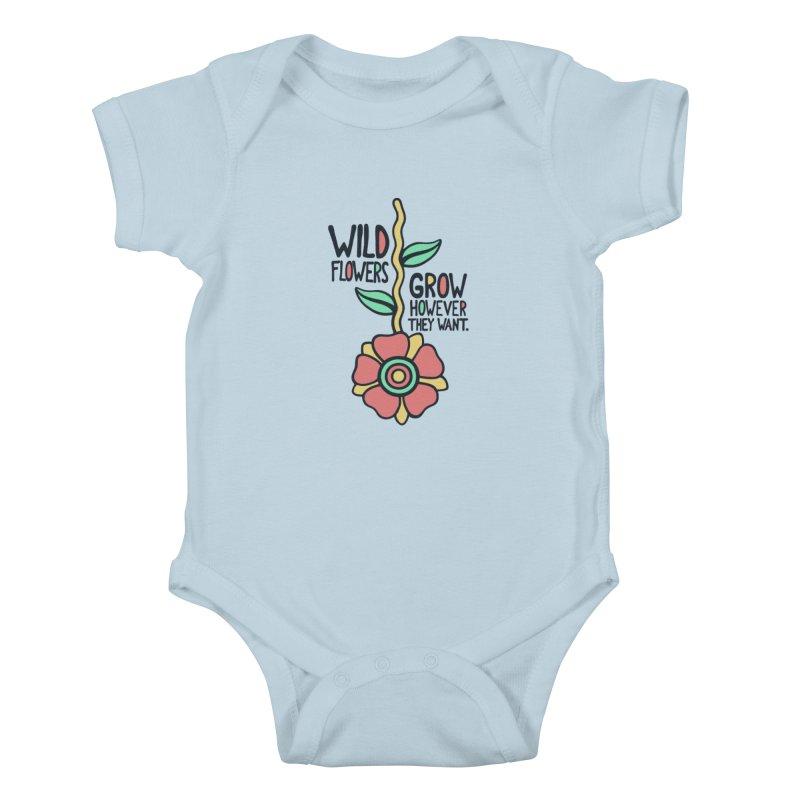 W/LDFLOWER Kids Baby Bodysuit by DYLAN'S SHOP