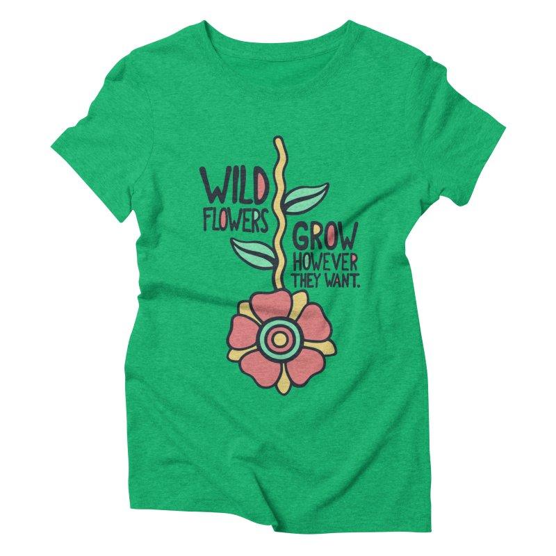 W/LDFLOWER Women's Triblend T-shirt by DYLAN'S SHOP