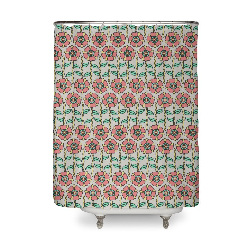 W/LDFLOWER Home Shower Curtain by DYLAN'S SHOP