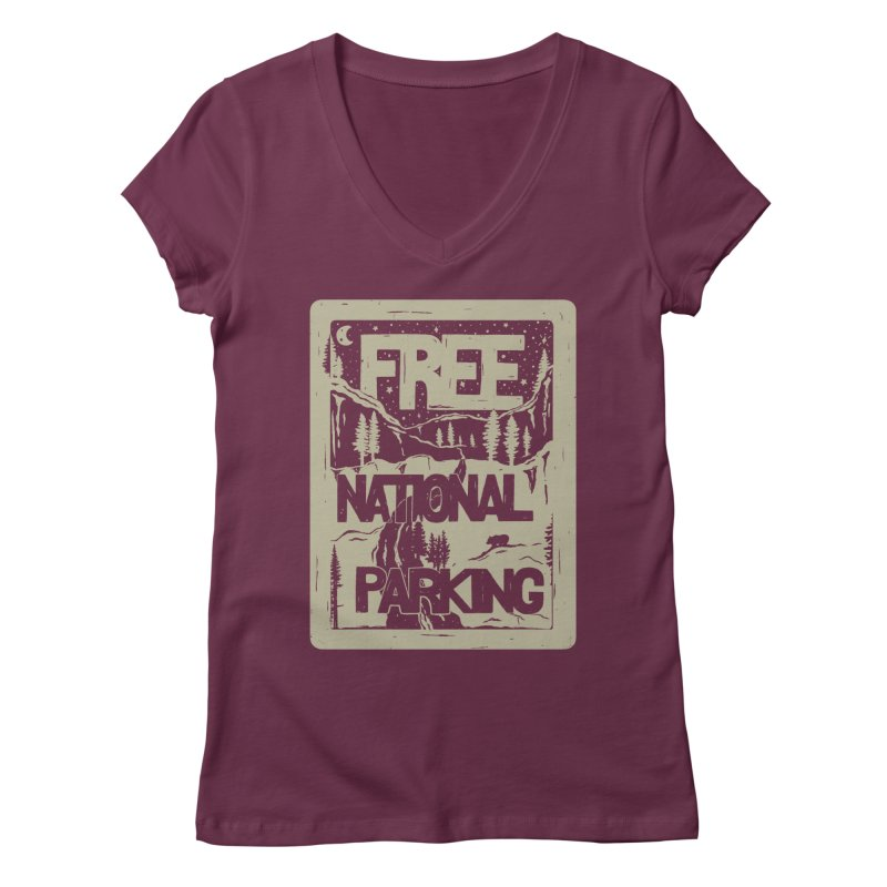 PRKNG Women's V-Neck by DYLAN'S SHOP
