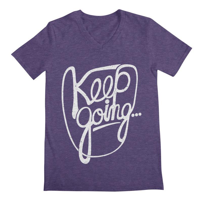 KEEP GO/NG Men's Regular V-Neck by DYLAN'S SHOP