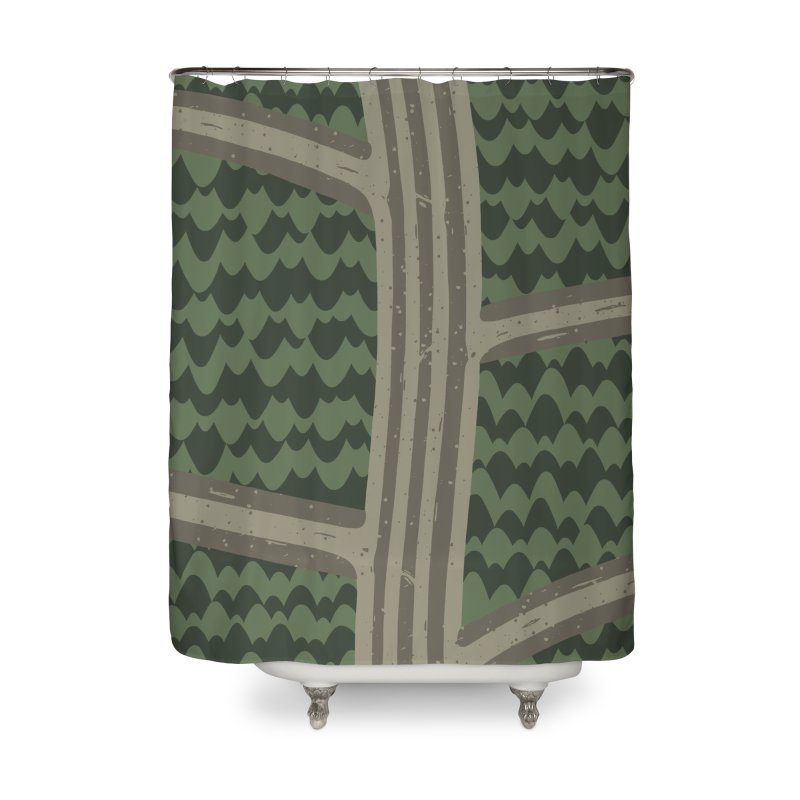 BACKROADS Home Shower Curtain by DYLAN'S SHOP