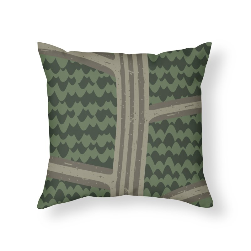 BACKROADS Home Throw Pillow by DYLAN'S SHOP