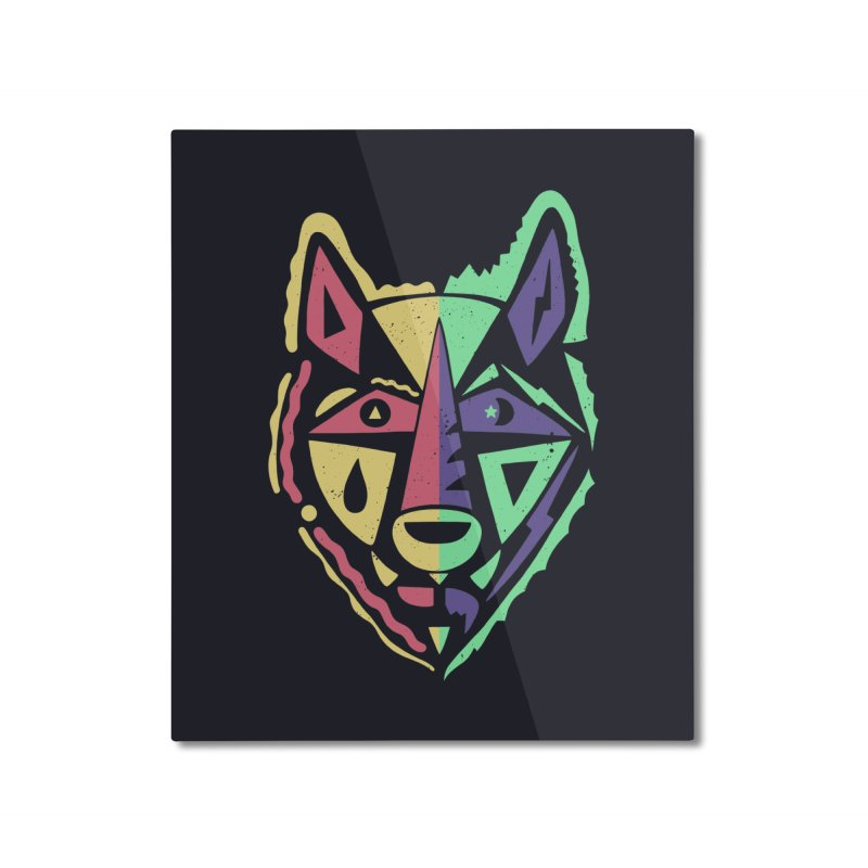 D\Y & N/GHT Home Mounted Aluminum Print by DYLAN'S SHOP