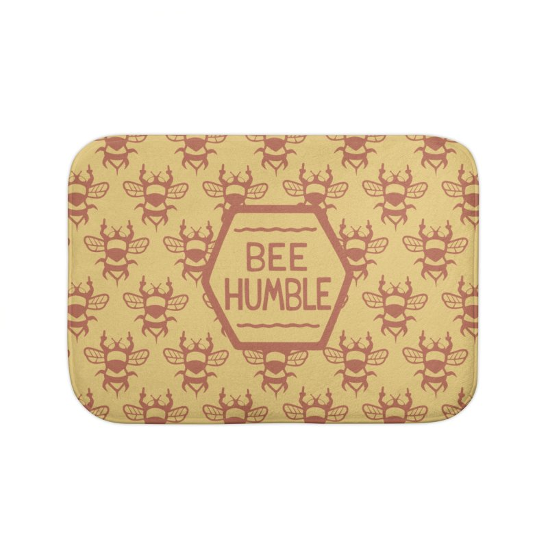 BEE HUMBLE Home Bath Mat by DYLAN'S SHOP