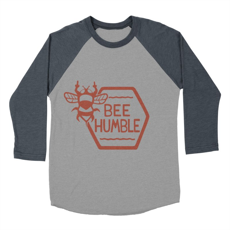 BEE HUMBLE Men's Baseball Triblend T-Shirt by DYLAN'S SHOP