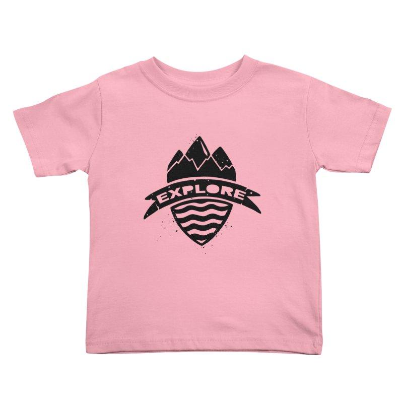 Explorer's Crest Kids Toddler T-Shirt by DYLAN'S SHOP