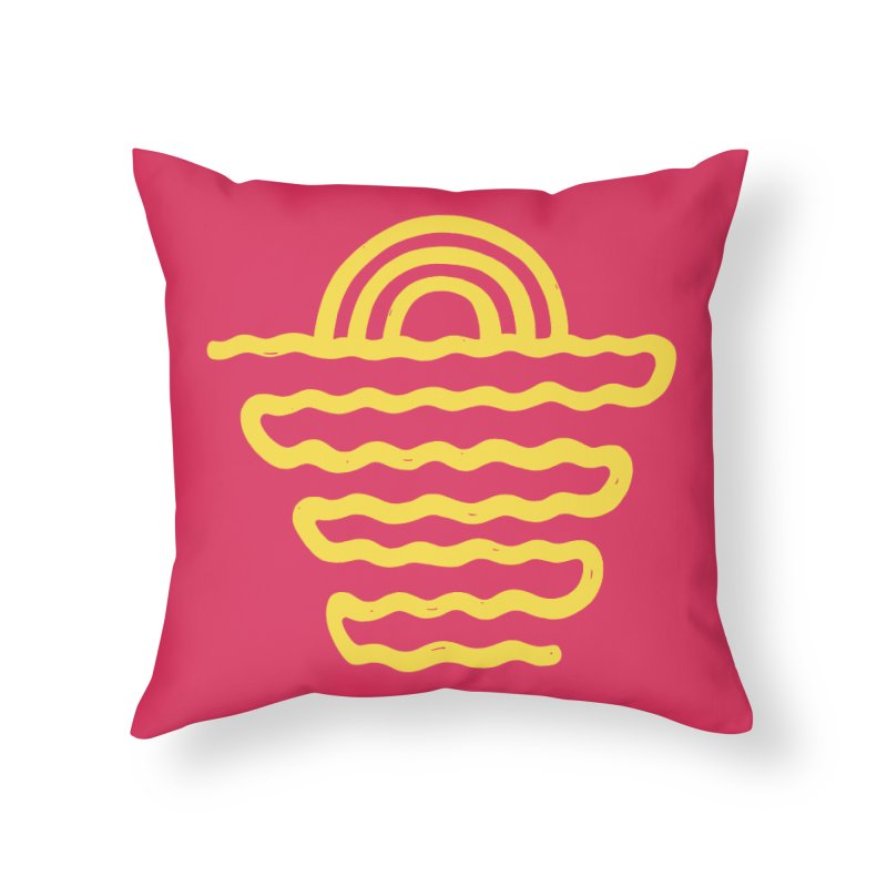 CO\STL/NE Home Throw Pillow by DYLAN'S SHOP