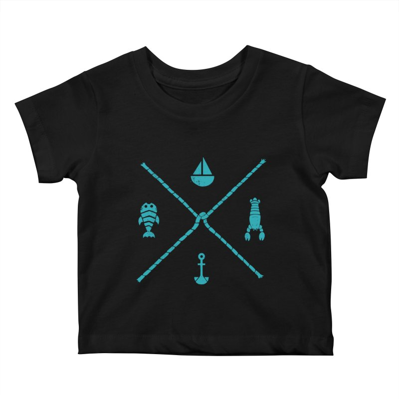 SUB-AQUATIC COMPASS Kids Baby T-Shirt by DYLAN'S SHOP