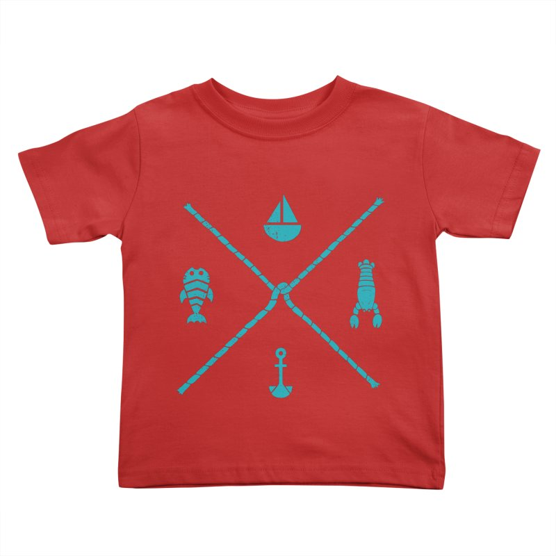 SUB-AQUATIC COMPASS Kids Toddler T-Shirt by DYLAN'S SHOP