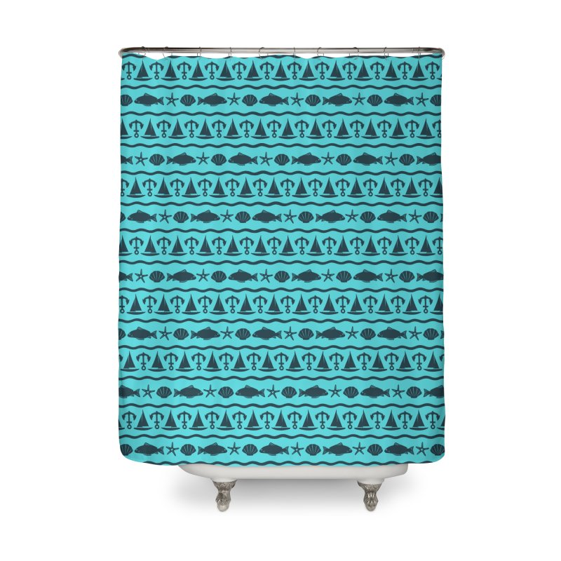 W\TER Home Shower Curtain by DYLAN'S SHOP