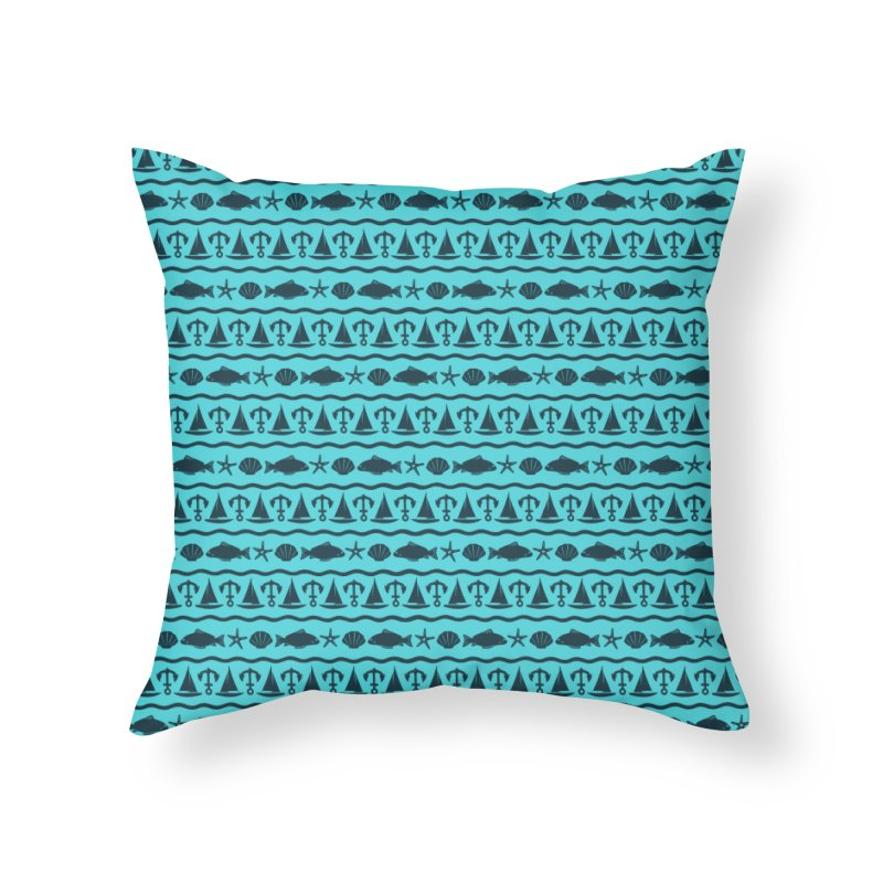 W\TER Home Throw Pillow by DYLAN'S SHOP