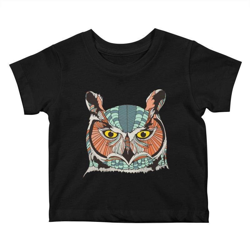 OWLBERT Kids Baby T-Shirt by DYLAN'S SHOP