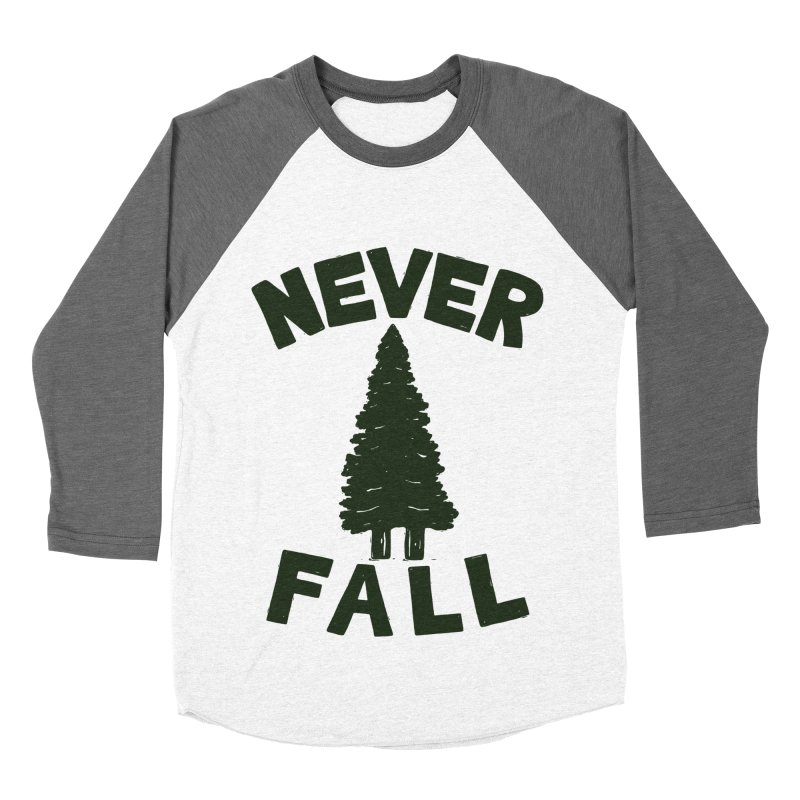 NEVER F\LL Women's Baseball Triblend T-Shirt by DYLAN'S SHOP