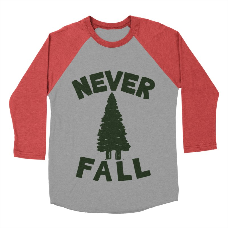 NEVER F\LL Men's Baseball Triblend Longsleeve T-Shirt by DYLAN'S SHOP