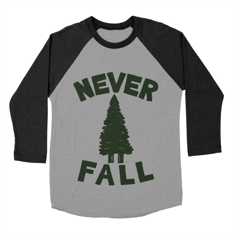 NEVER F\LL Men's Baseball Triblend Longsleeve T-Shirt by DYLAN'S SHOP