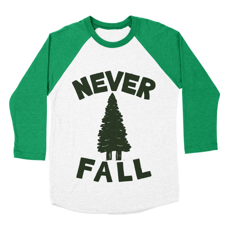 NEVER F\LL Men's Baseball Triblend T-Shirt by DYLAN'S SHOP