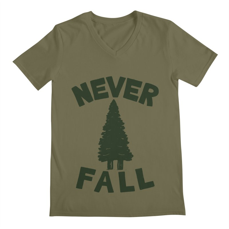 NEVER F\LL Men's V-Neck by DYLAN'S SHOP