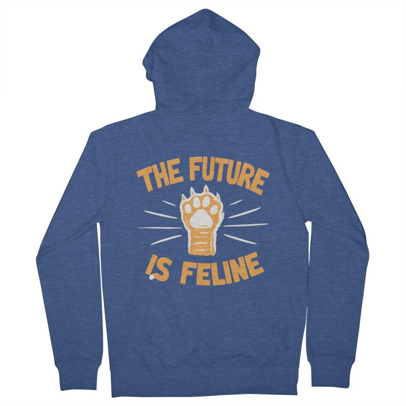 THE T/ME /S MEOW Women's French Terry Zip-Up Hoody by DYLAN'S SHOP