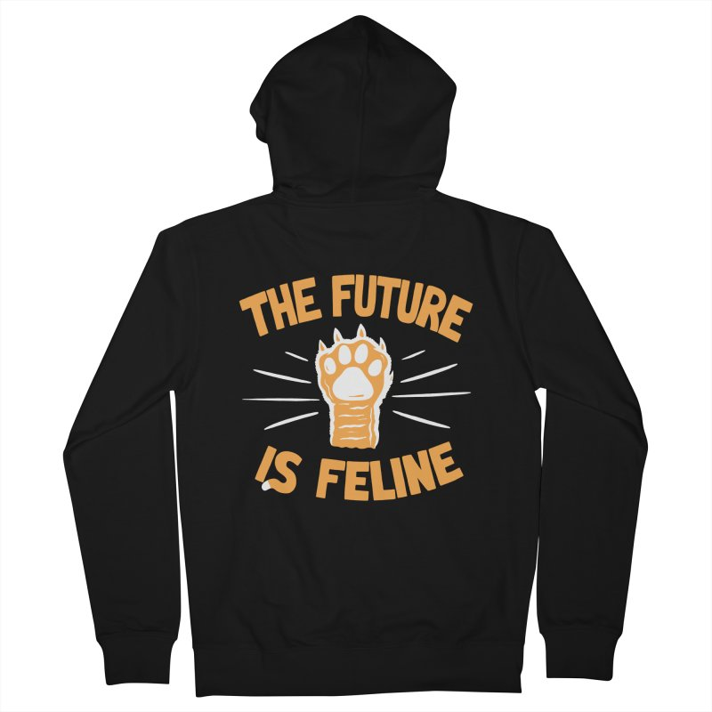 THE T/ME /S MEOW Men's French Terry Zip-Up Hoody by DYLAN'S SHOP