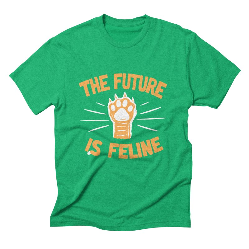 THE T/ME /S MEOW Men's Triblend T-Shirt by DYLAN'S SHOP