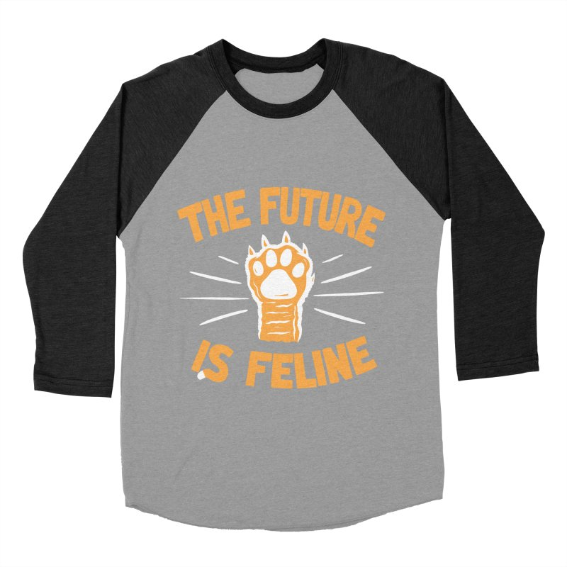 THE T/ME /S MEOW Men's Baseball Triblend Longsleeve T-Shirt by DYLAN'S SHOP