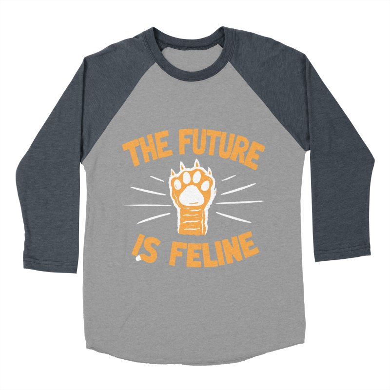 THE T/ME /S MEOW Men's Baseball Triblend T-Shirt by DYLAN'S SHOP