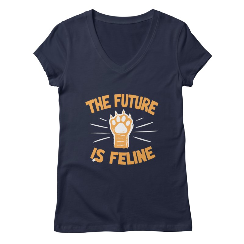 THE T/ME /S MEOW Women's V-Neck by DYLAN'S SHOP