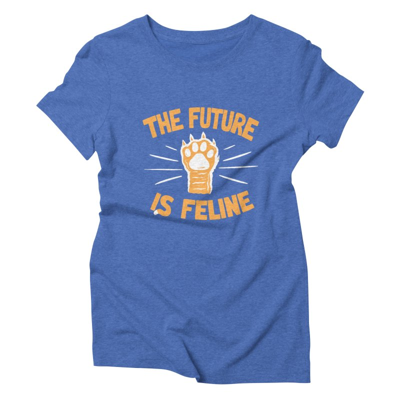 THE T/ME /S MEOW Women's Triblend T-Shirt by DYLAN'S SHOP