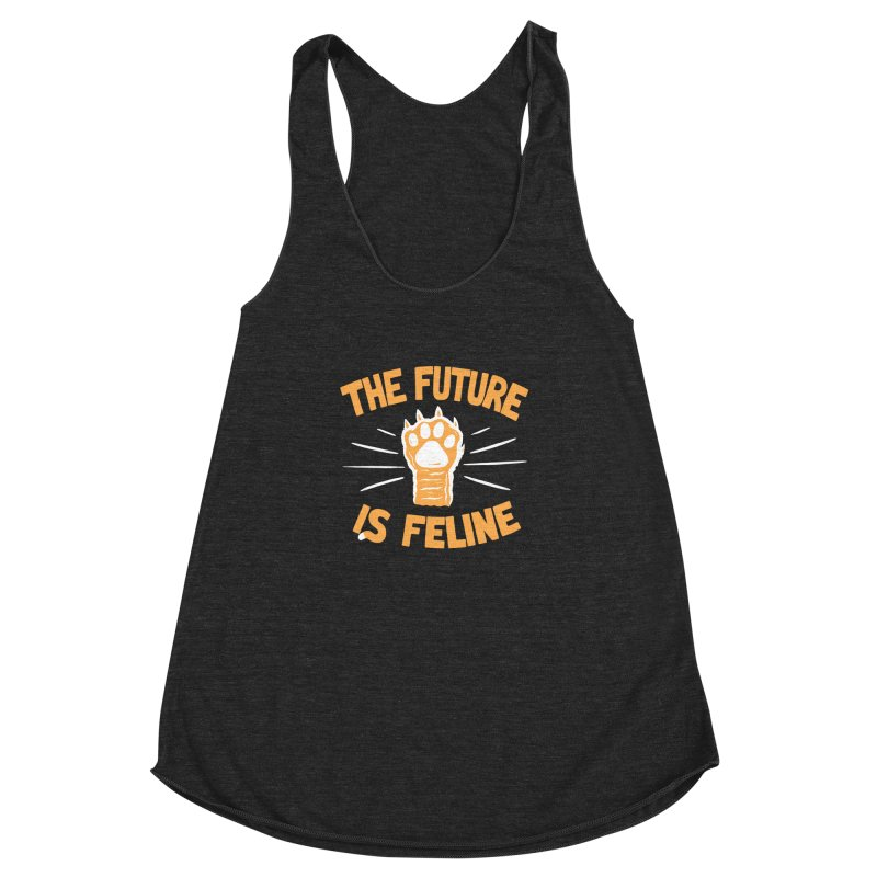 THE T/ME /S MEOW Women's Racerback Triblend Tank by DYLAN'S SHOP