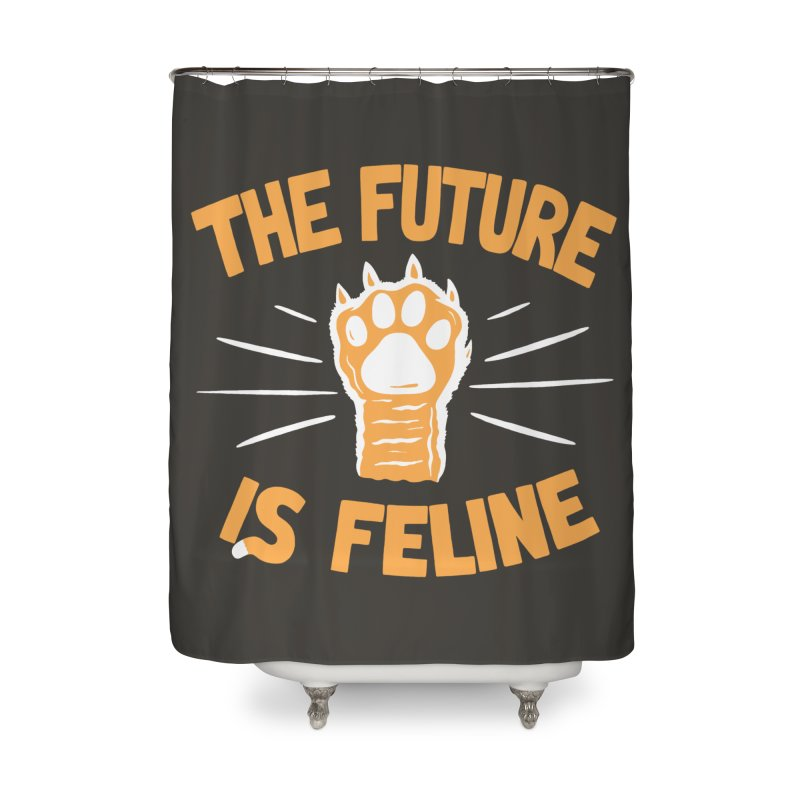 THE T/ME /S MEOW Home Shower Curtain by DYLAN'S SHOP