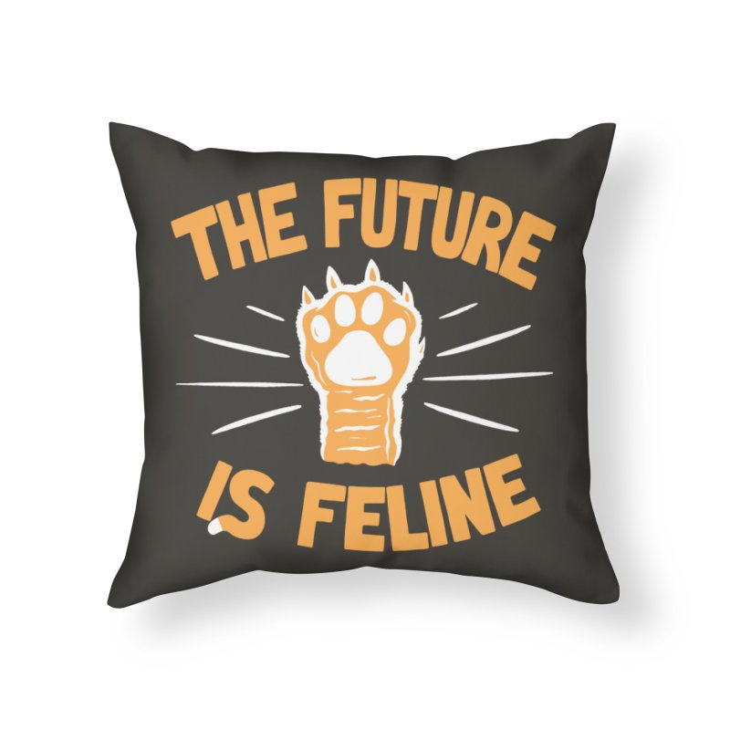 THE T/ME /S MEOW Home Throw Pillow by DYLAN'S SHOP