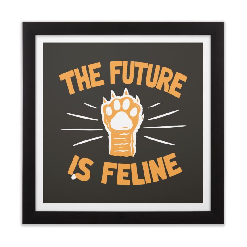 THE T/ME /S MEOW Home Framed Fine Art Print by DYLAN'S SHOP