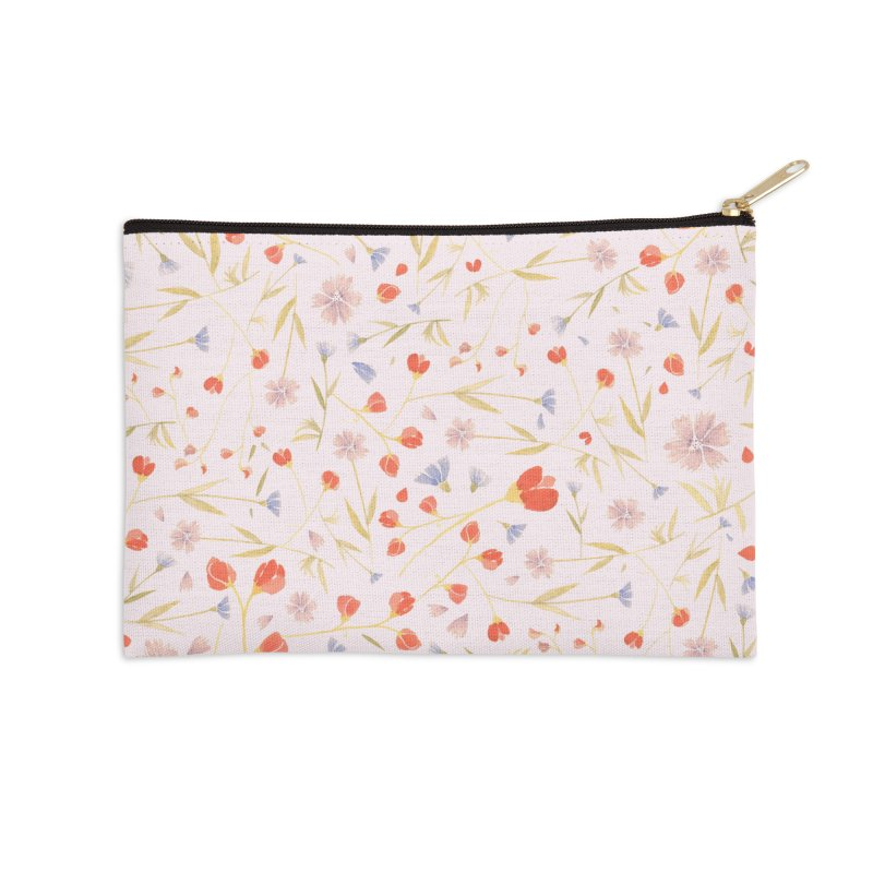 W/LDFLOWERS Accessories Zip Pouch by DYLAN'S SHOP