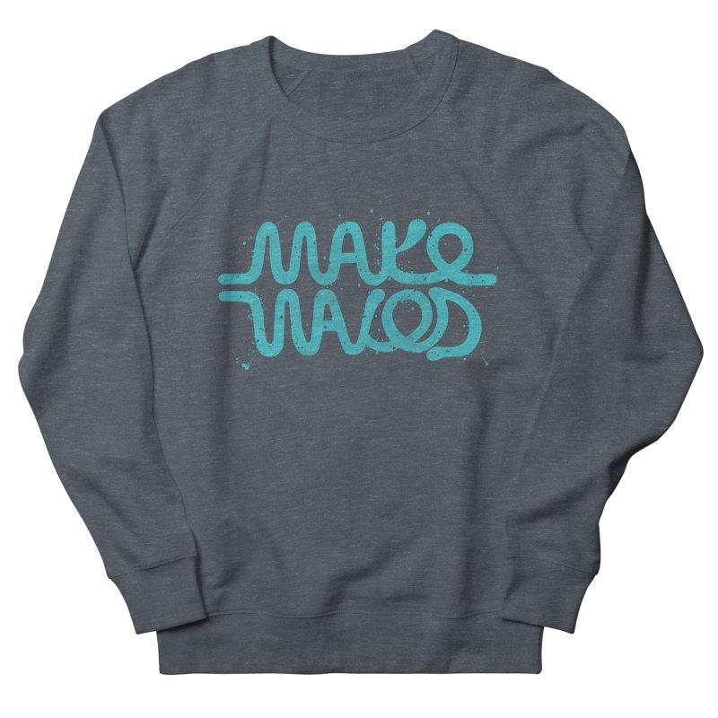 MAKE WAVES in Men's Sweatshirt Heather Navy Denim by DYLAN'S SHOP