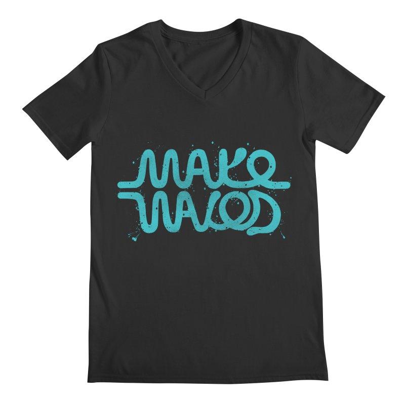 MAKE WAVES Men's V-Neck by DYLAN'S SHOP