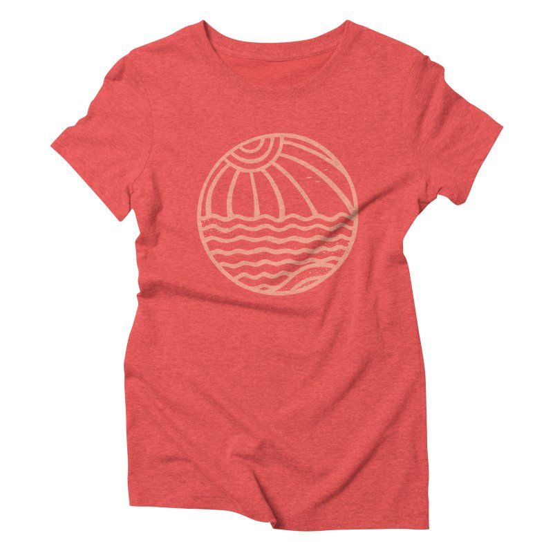 BE\CHB\LL in Women's Triblend T-Shirt Chili Red by DYLAN'S SHOP