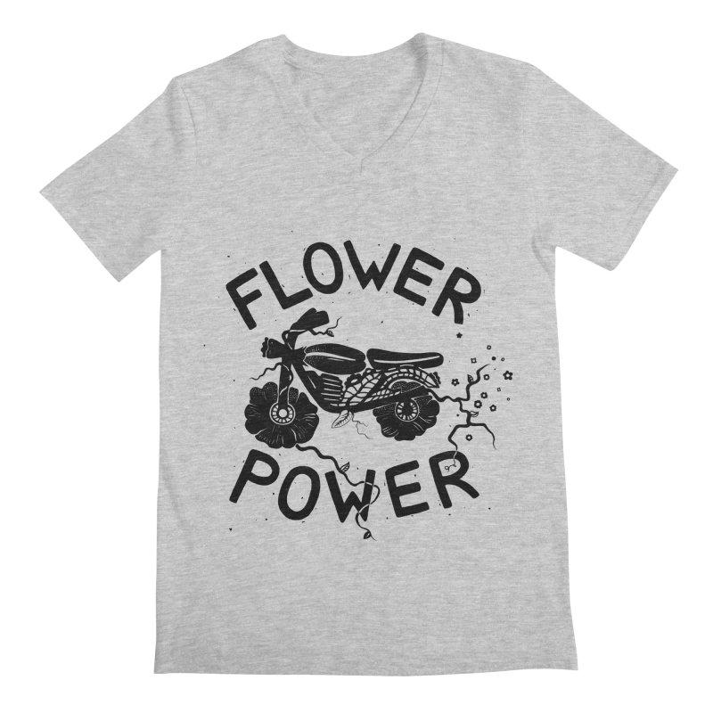 Floral Fuel Men's Regular V-Neck by DYLAN'S SHOP