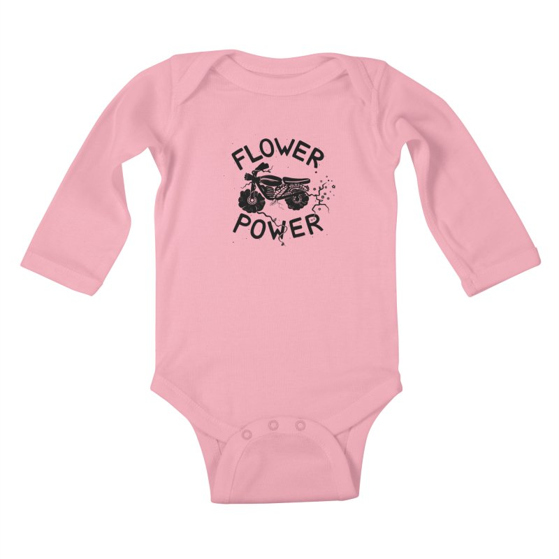 Floral Fuel Kids Baby Longsleeve Bodysuit by DYLAN'S SHOP