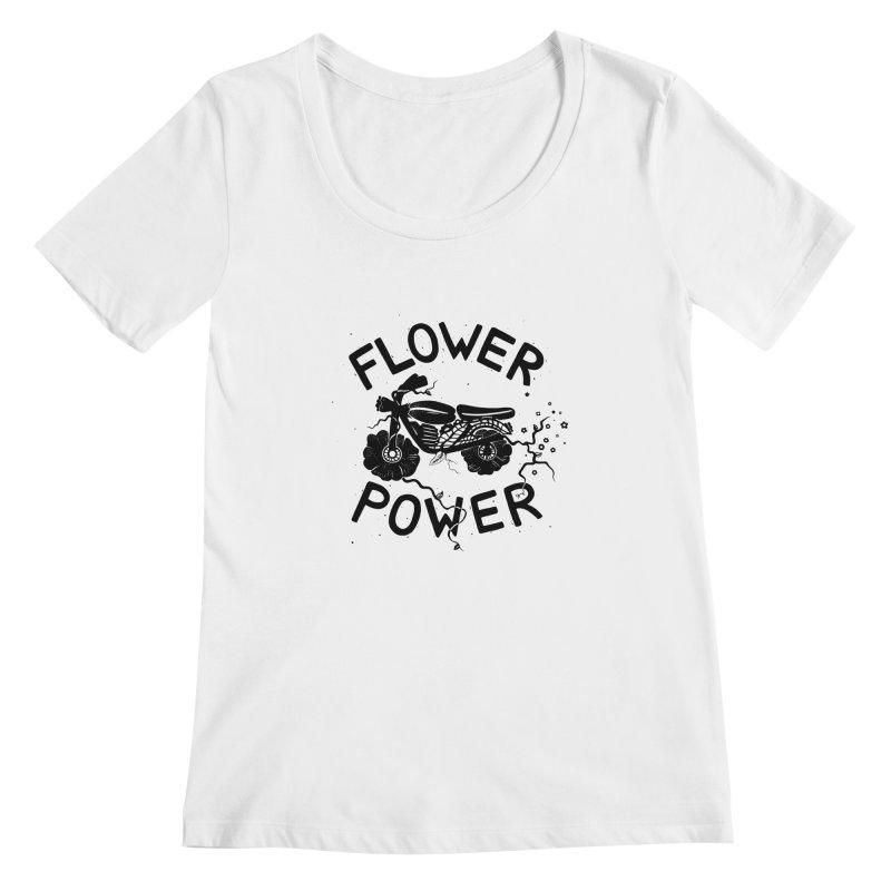 Floral Fuel Women's Scoopneck by DYLAN'S SHOP