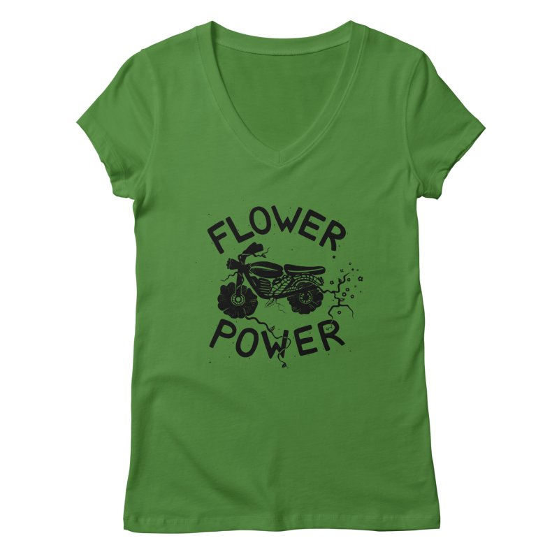 Floral Fuel Women's V-Neck by DYLAN'S SHOP