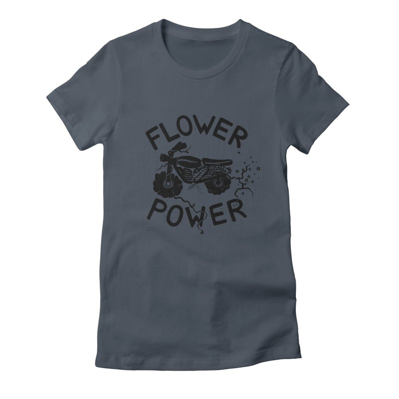 Floral Fuel Women's Fitted T-Shirt by DYLAN'S SHOP
