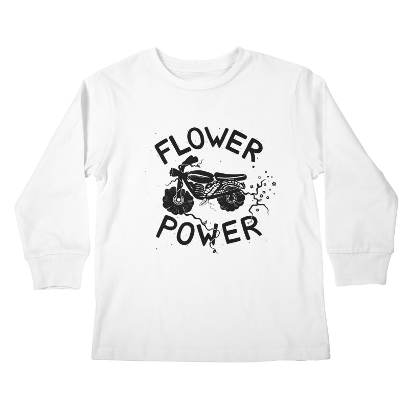 Floral Fuel Kids Longsleeve T-Shirt by DYLAN'S SHOP