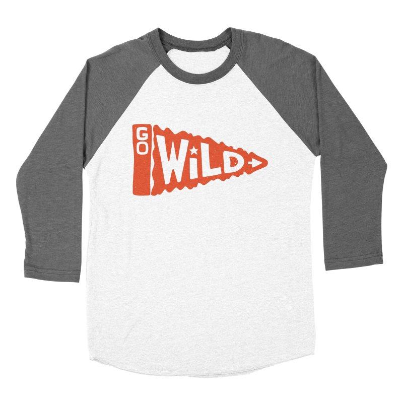 GO W/LD Men's Baseball Triblend Longsleeve T-Shirt by DYLAN'S SHOP