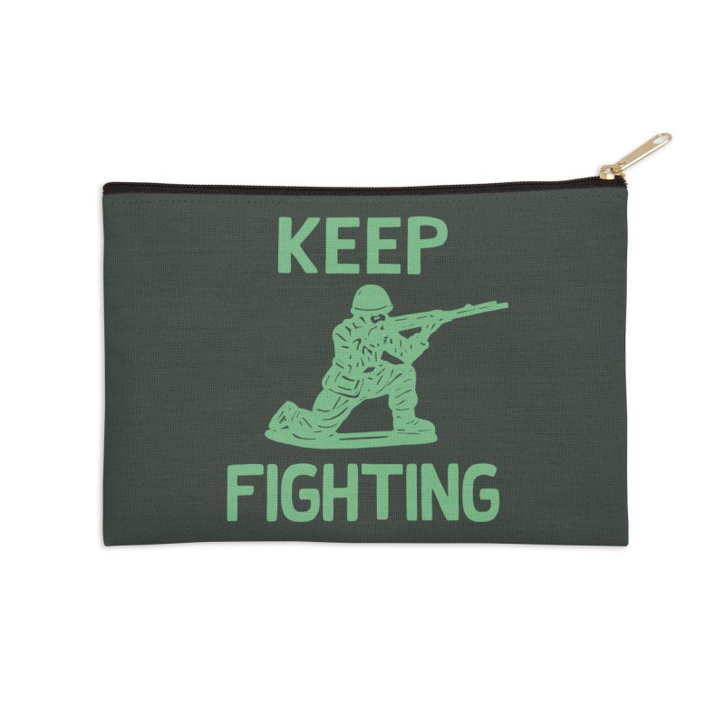 KEEP F/GHT/NG Accessories Zip Pouch by DYLAN'S SHOP