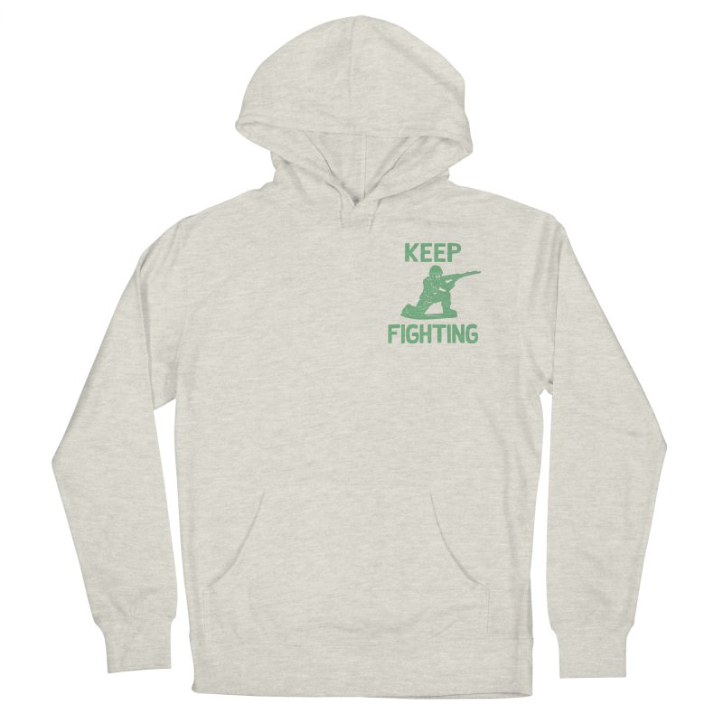 KEEP F/GHT/NG Women's French Terry Pullover Hoody by DYLAN'S SHOP