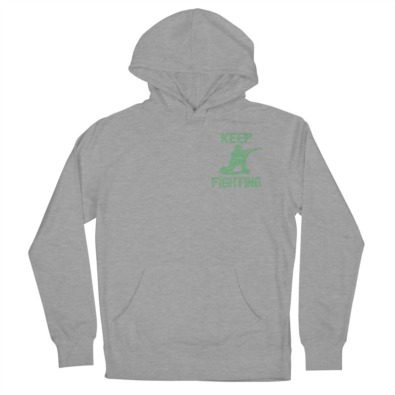 KEEP F/GHT/NG Men's French Terry Pullover Hoody by DYLAN'S SHOP