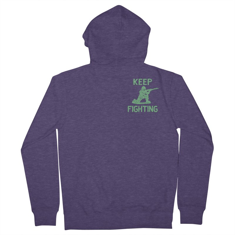 KEEP F/GHT/NG Men's French Terry Zip-Up Hoody by DYLAN'S SHOP