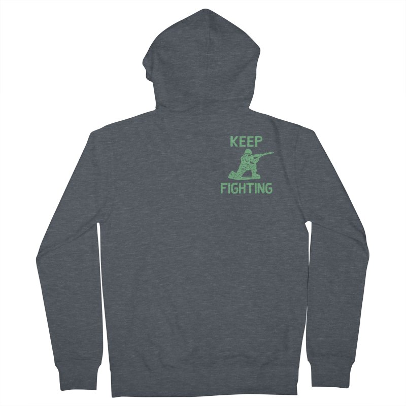KEEP F/GHT/NG Men's Zip-Up Hoody by DYLAN'S SHOP