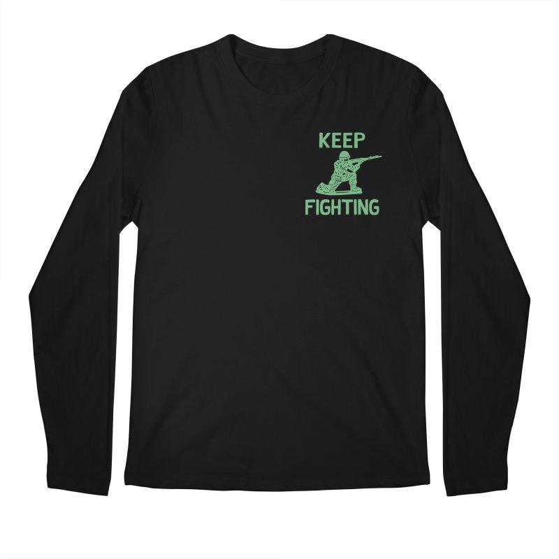KEEP F/GHT/NG Men's Regular Longsleeve T-Shirt by DYLAN'S SHOP